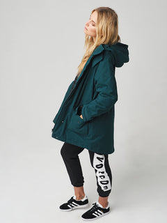 Volcover Parka In Evergreen, Sixth Alternate View