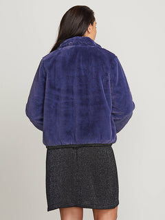 Fuzzy Fresh Jacket In Sea Navy, Back Extended Size View