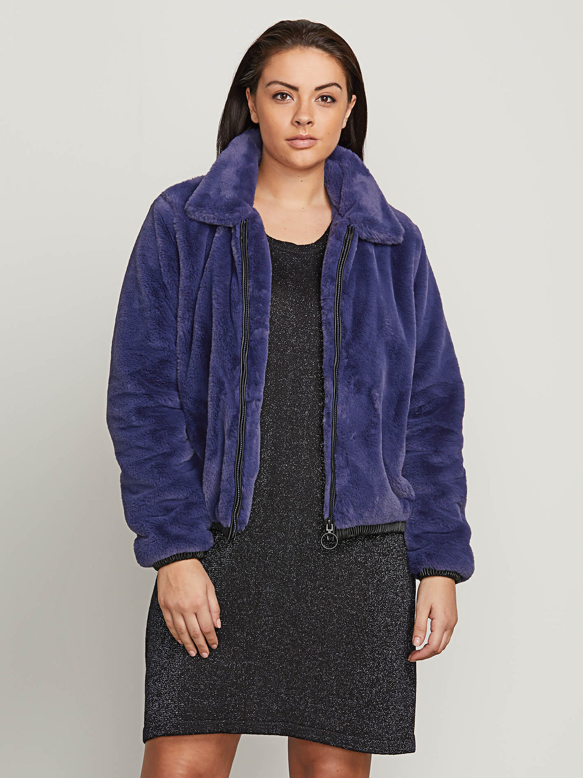 Fuzzy Fresh Jacket In Sea Navy, Alternate Extended Size View