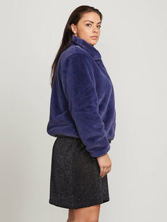 Fuzzy Fresh Jacket In Sea Navy, Second Alternate Extended Size View