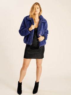 Fuzzy Fresh Jacket In Sea Navy, Ninth Alternate View