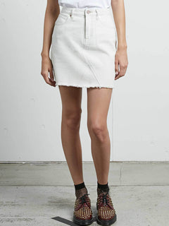 Stoned Mini Skirt In Vanilla Latte, Front View