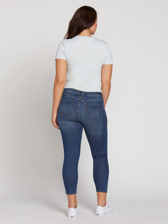 Liberator Leggings In Aged Indigo, Back Extended Size View