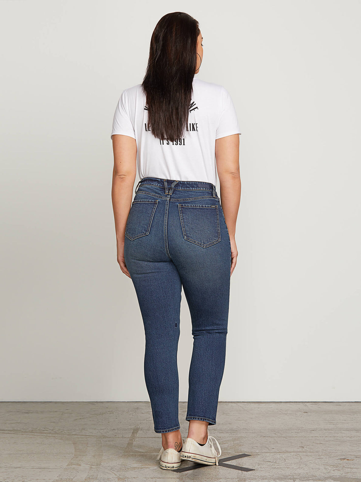 Vol Stone Jeans In Dry Vintage, Back Extended Size View