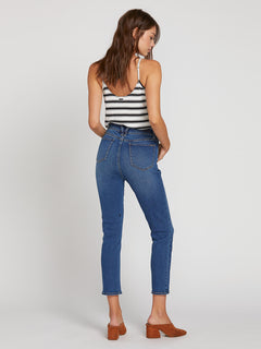Vol Stone Jeans In Marina Blue, Back View