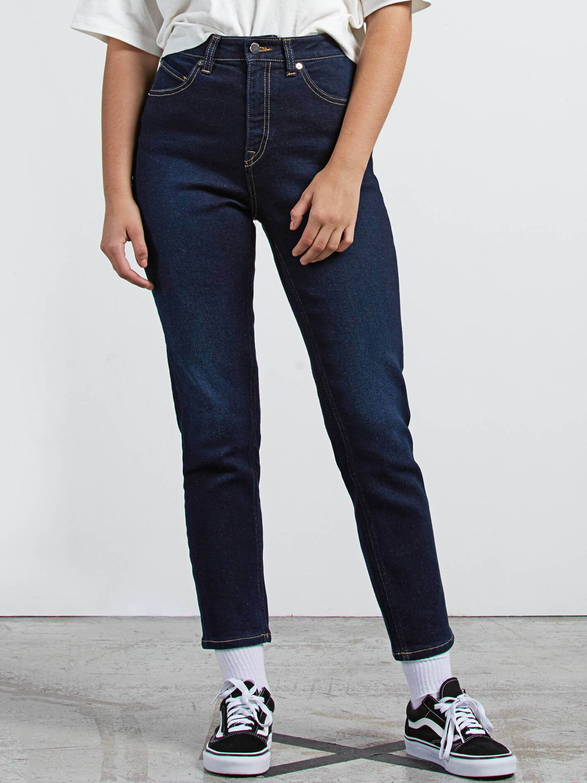 Vol Stone Jeans In Service Blue, Front View