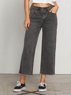 High & Dry Crop Jeans In Smoke, Front View