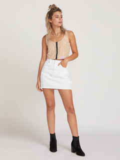 Fix It Mini Skirt In White, Front View