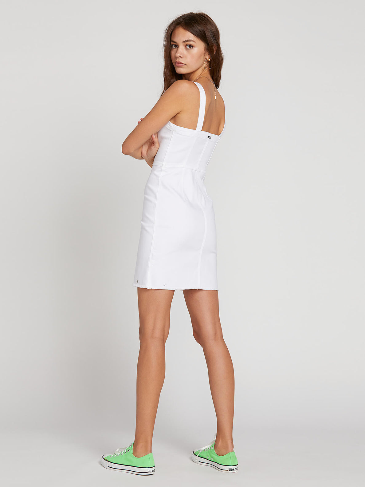 Vol Stone Dress In Paint White, Back View