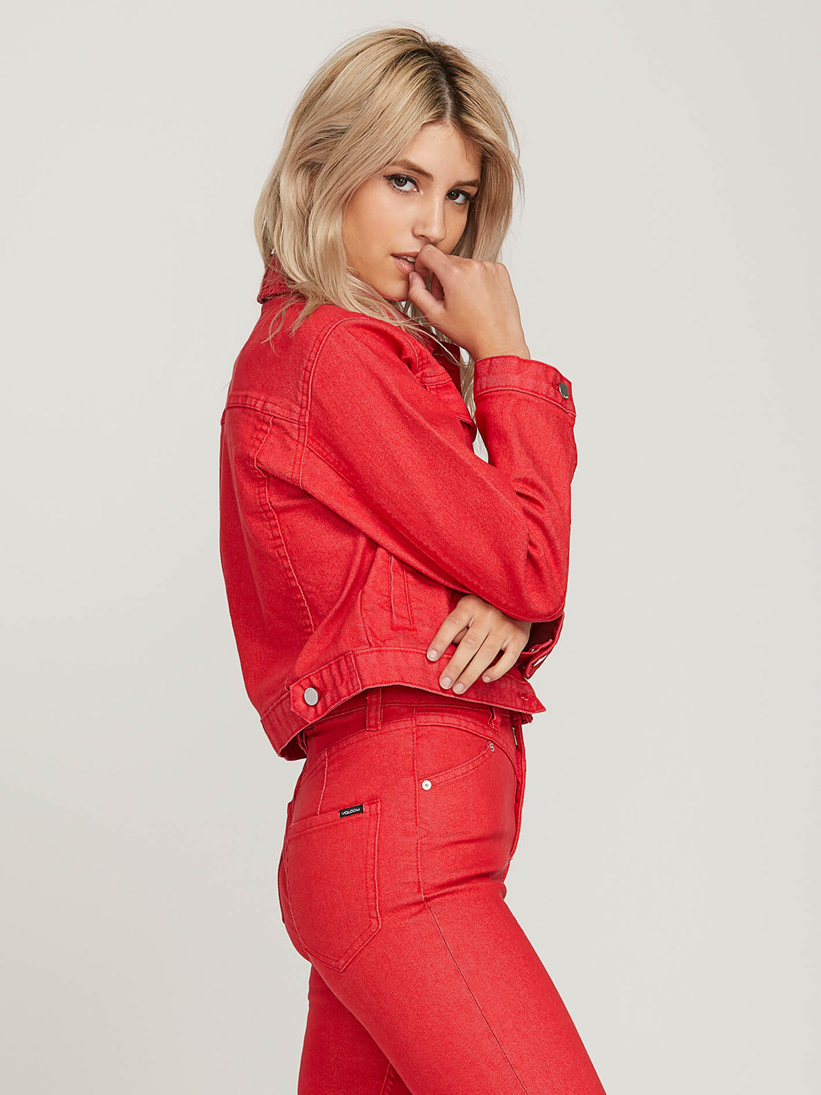 Gmj Shrunken Jacket In Red, Alternate View