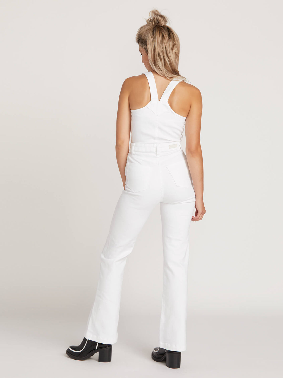 Gmj Overall In White, Back View