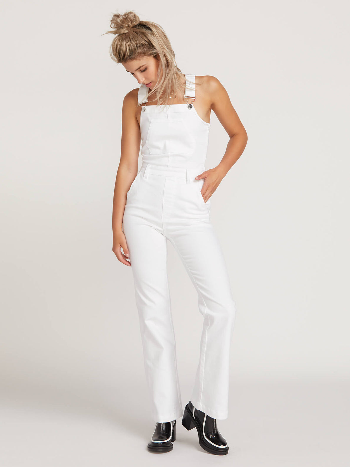 Gmj Overall In White, Front View