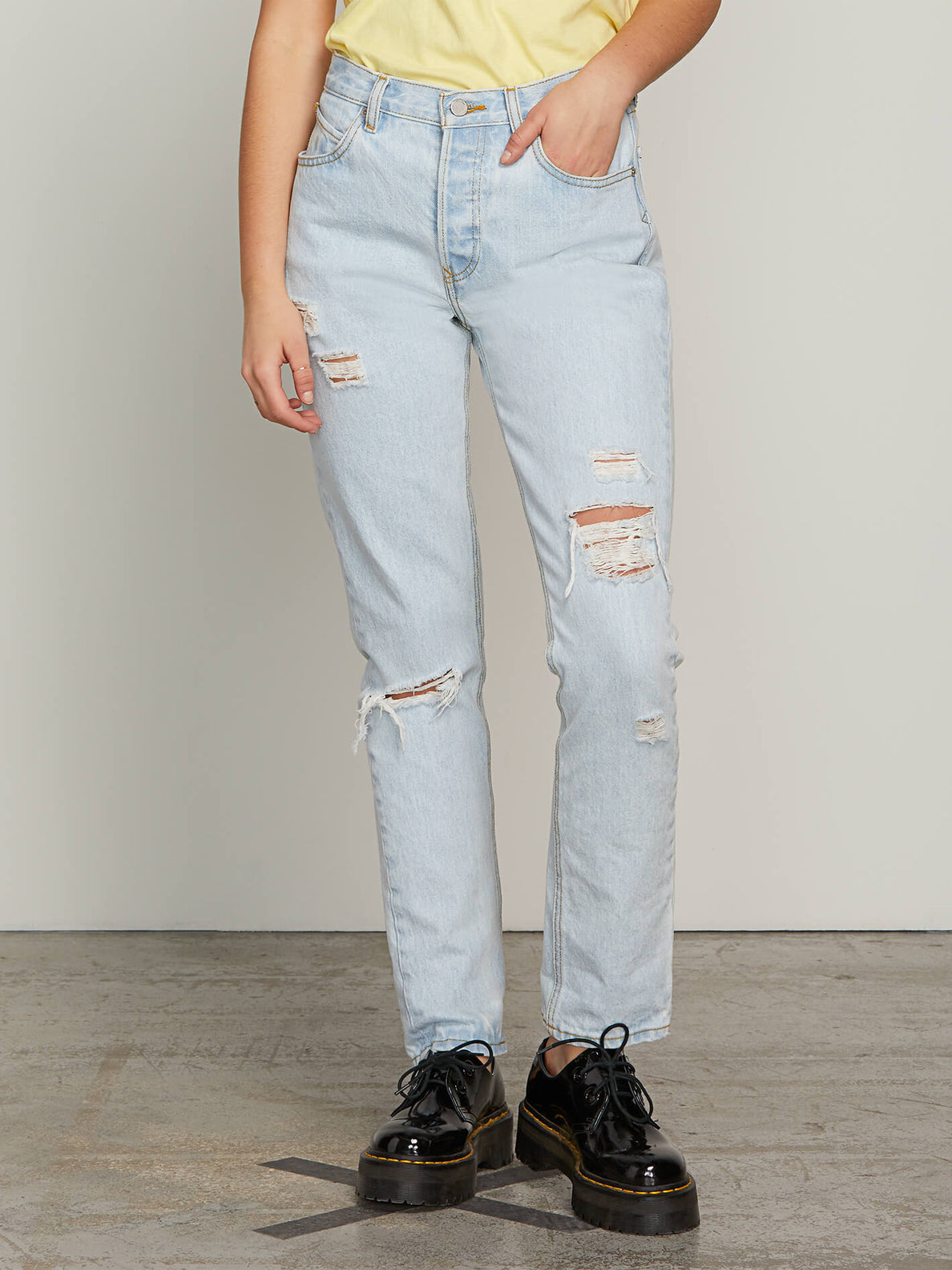 Super Stoned Skinny Jeans In Glacier Blue, Second Alternate View