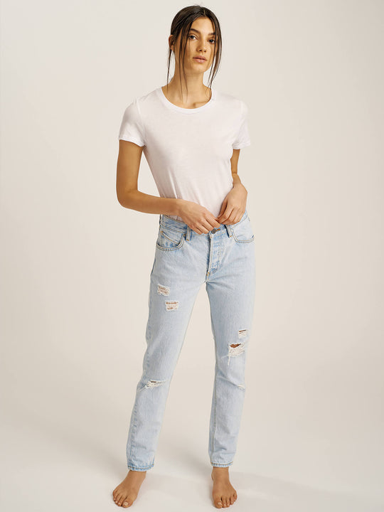 Super Stoned Skinny Jeans In Glacier Blue, Third Alternate View