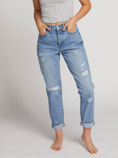 Super Stoned Skinny Jeans In Matured Blue, Third Alternate View