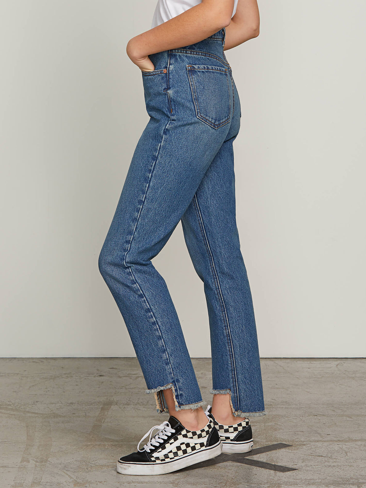 Super Stoned Skinny Jeans In Vintage Blue, Alternate View