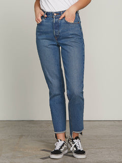 Super Stoned Skinny Jeans In Vintage Blue, Second Alternate View