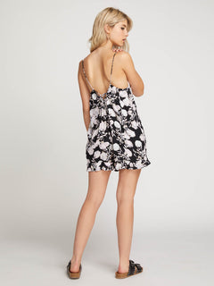 That Was Fun Romper In Black, Back View