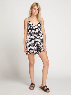 That Was Fun Romper In Black, Front View