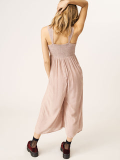 Counting Moons Romper In Copper, Back View