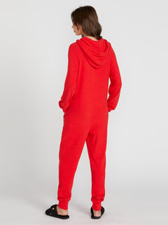 Lived In Lounge Onesie - Scarlet (B2841802_SCR) [B]