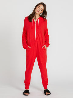Lived In Lounge Onesie - Scarlet (B2841802_SCR) [F]