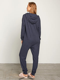 Lil Onesie In Sea Navy, Back View