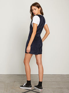 Win Me Ova Romper In Sea Navy, Back View