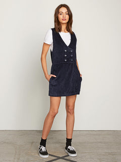 Win Me Ova Romper In Sea Navy, Front View