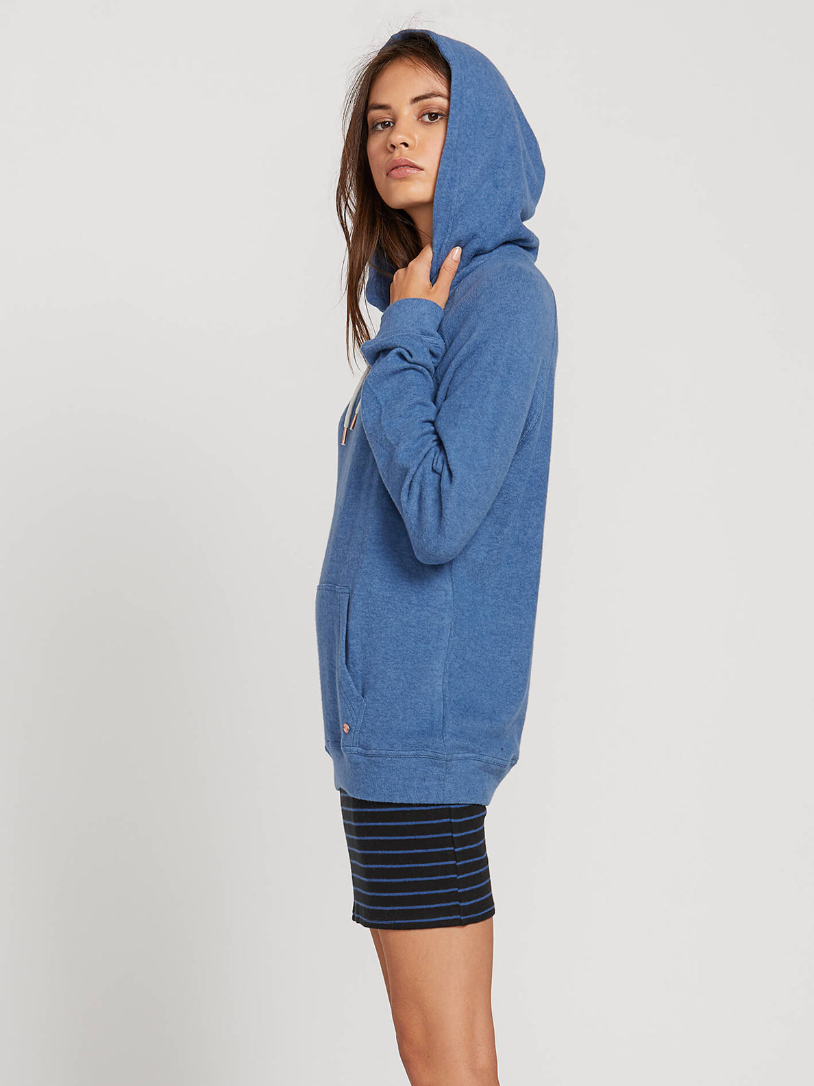 Lived In Lounge Hoodie In Blue Drift, Alternate View