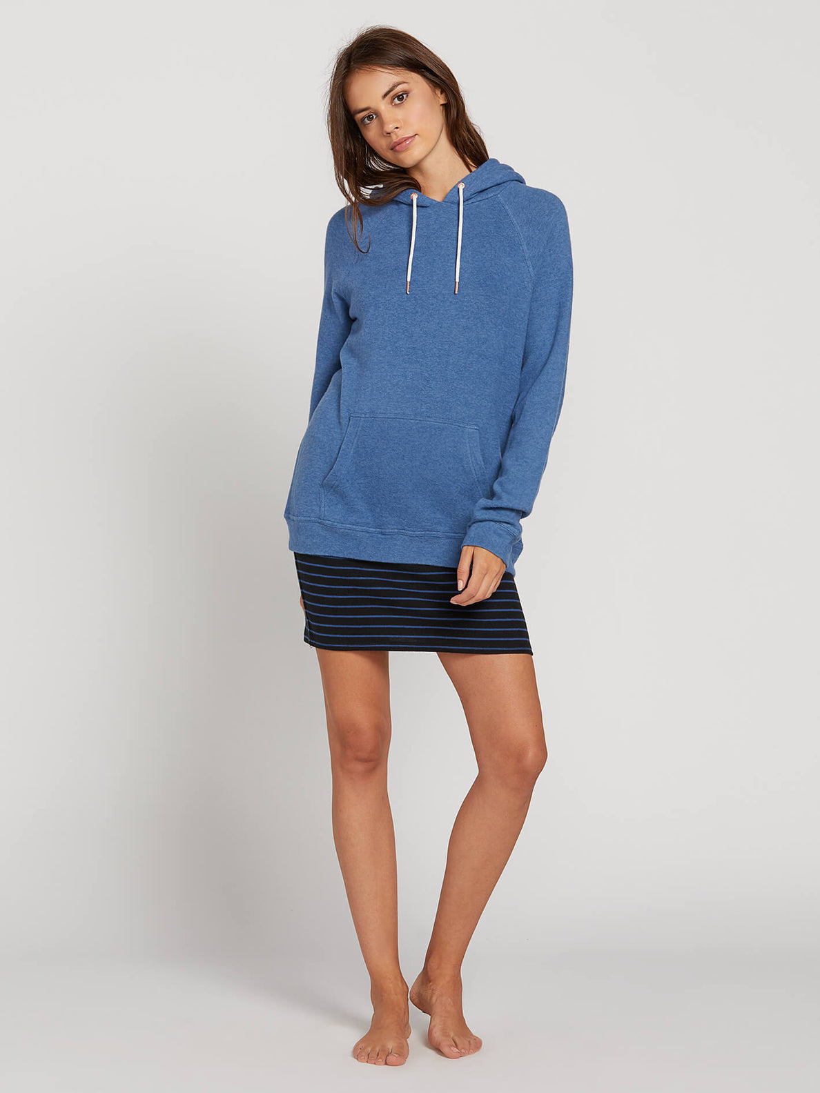 Lived In Lounge Hoodie In Blue Drift, Second Alternate View