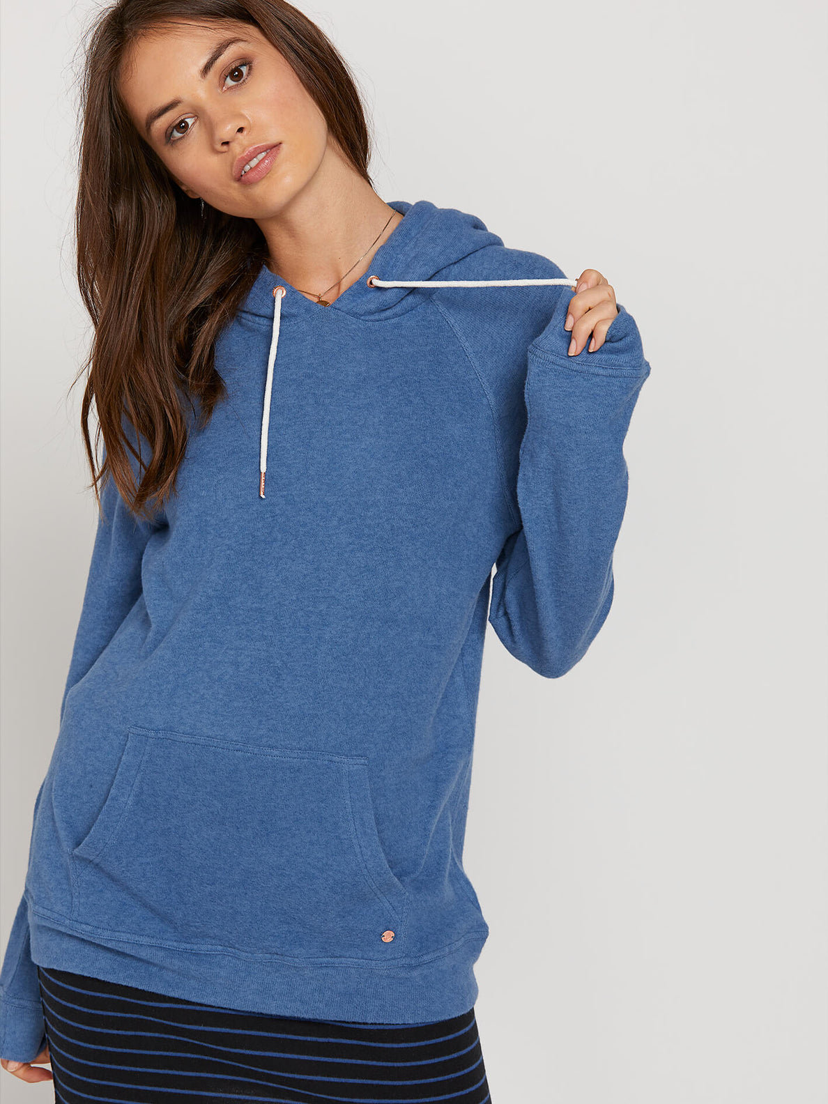 Lived In Lounge Hoodie In Blue Drift, Fifth Alternate View