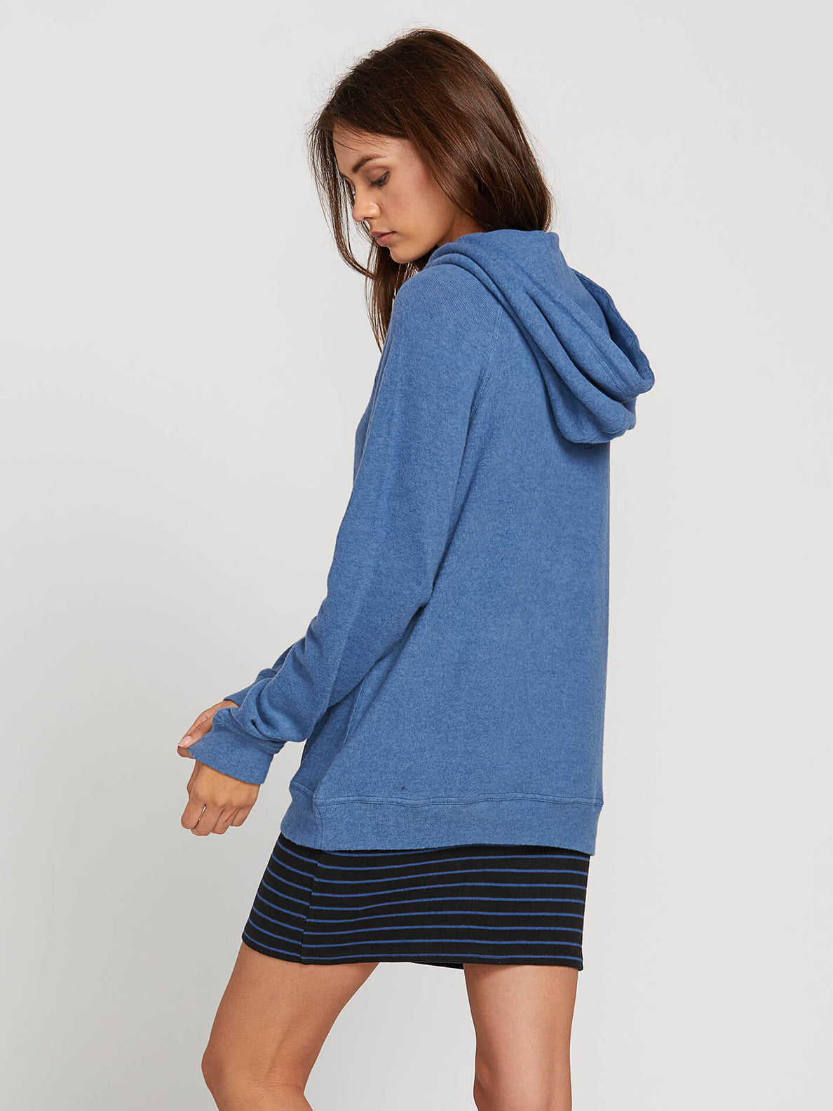 Lived In Lounge Hoodie In Blue Drift, Back View