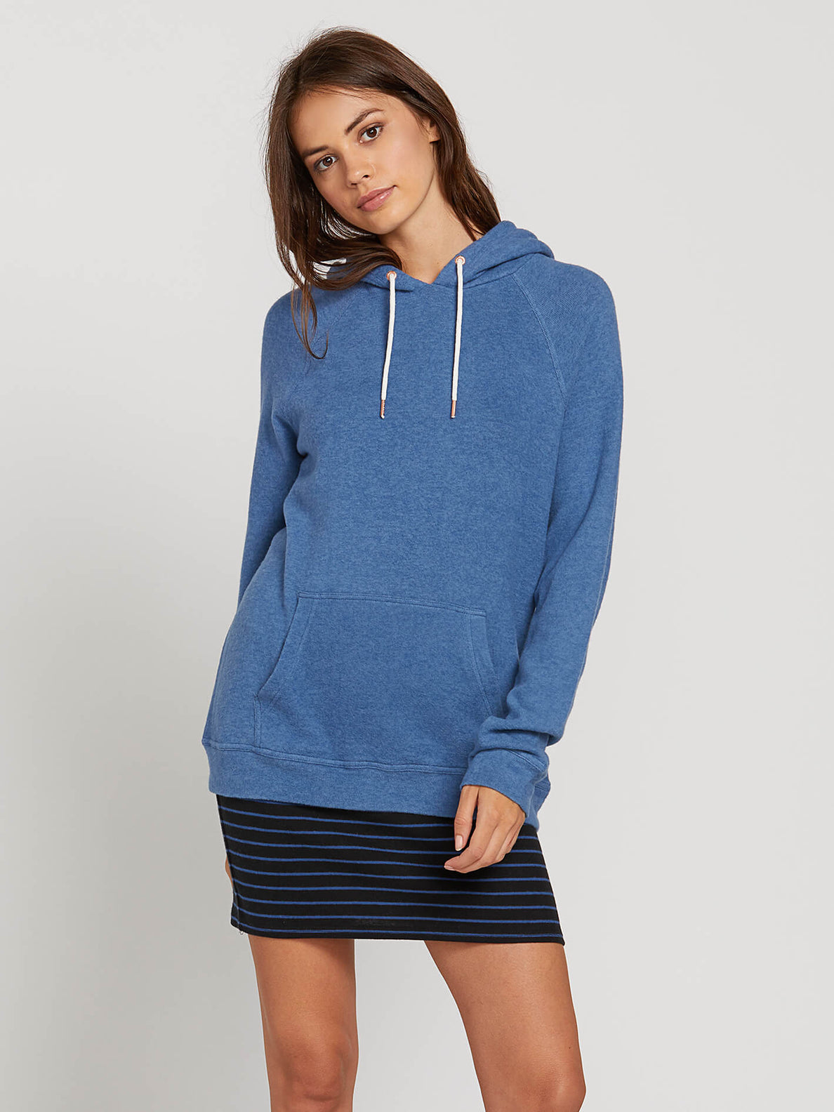 Lived In Lounge Hoodie In Blue Drift, Front View