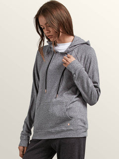 Lived In Lounge Pullover Hoodie In Charcoal Grey, Alternate View