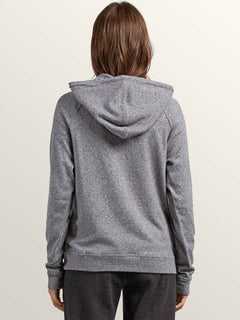 Lived In Lounge Pullover Hoodie In Charcoal Grey, Back View