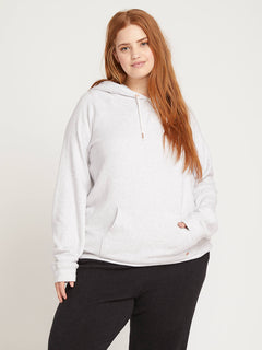 Lived In Lounge Pullover Hoodie In Light Grey, Front Plus Size View
