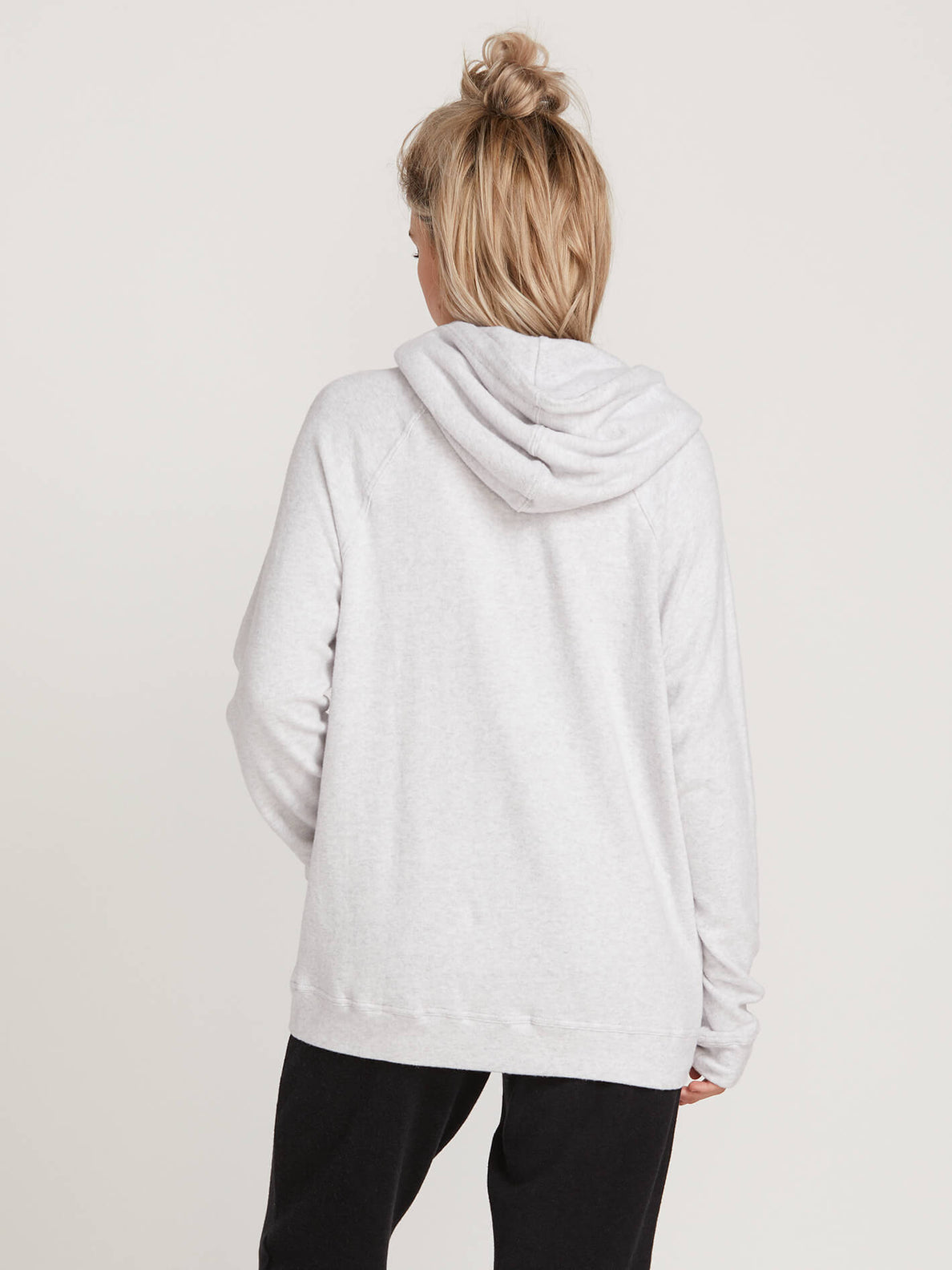 Lived In Lounge Pullover Hoodie In Light Grey, Back View