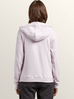 Lil Hoodie In Light Purple, Back View