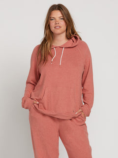 Lived In Lounge Hoodie In Mauve, Front Extended Size View