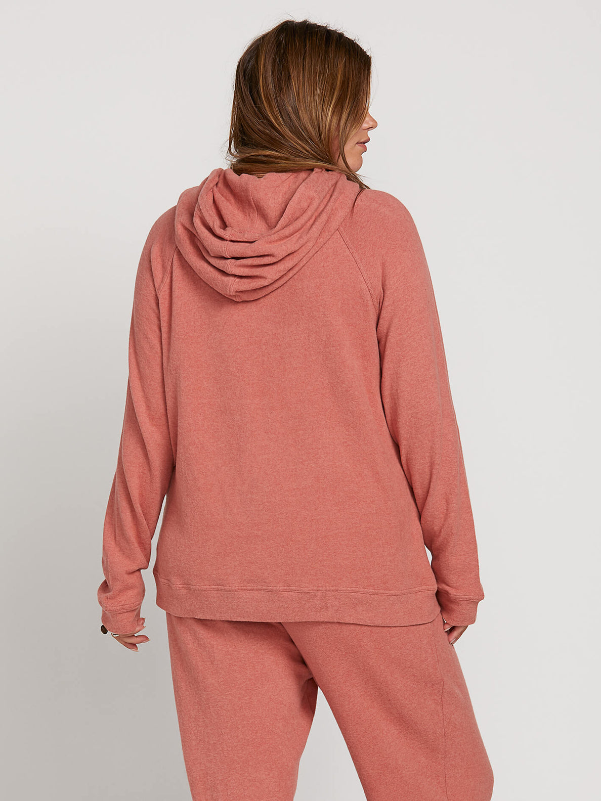 Lived In Lounge Hoodie In Mauve, Back Extended Size View