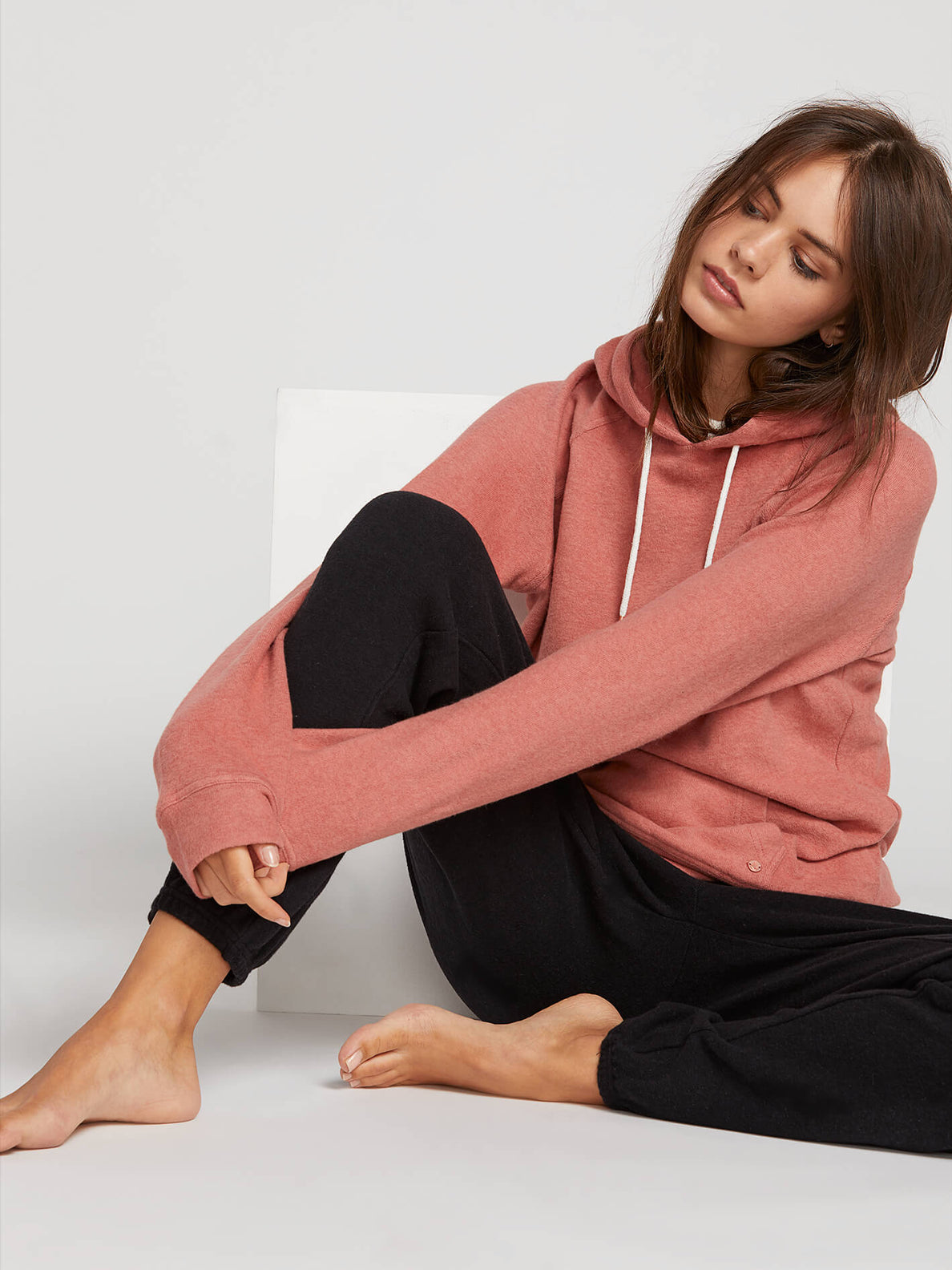 Lived In Lounge Hoodie In Mauve, Fifth Alternate View