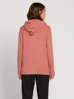 Lived In Lounge Hoodie In Mauve, Back View