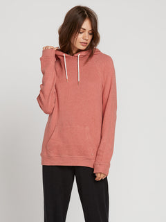 Lived In Lounge Hoodie In Mauve, Front View