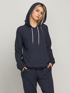 Lil Hoodie In Sea Navy, Front View