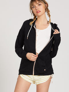 Lived In Lounge Zip Fleece - Black (B3111802_BLK) [23]
