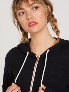 Lived In Lounge Zip Fleece - Black (B3111802_BLK) [50]