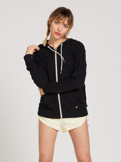 Lived In Lounge Zip Fleece - Black (B3111802_BLK) [F]