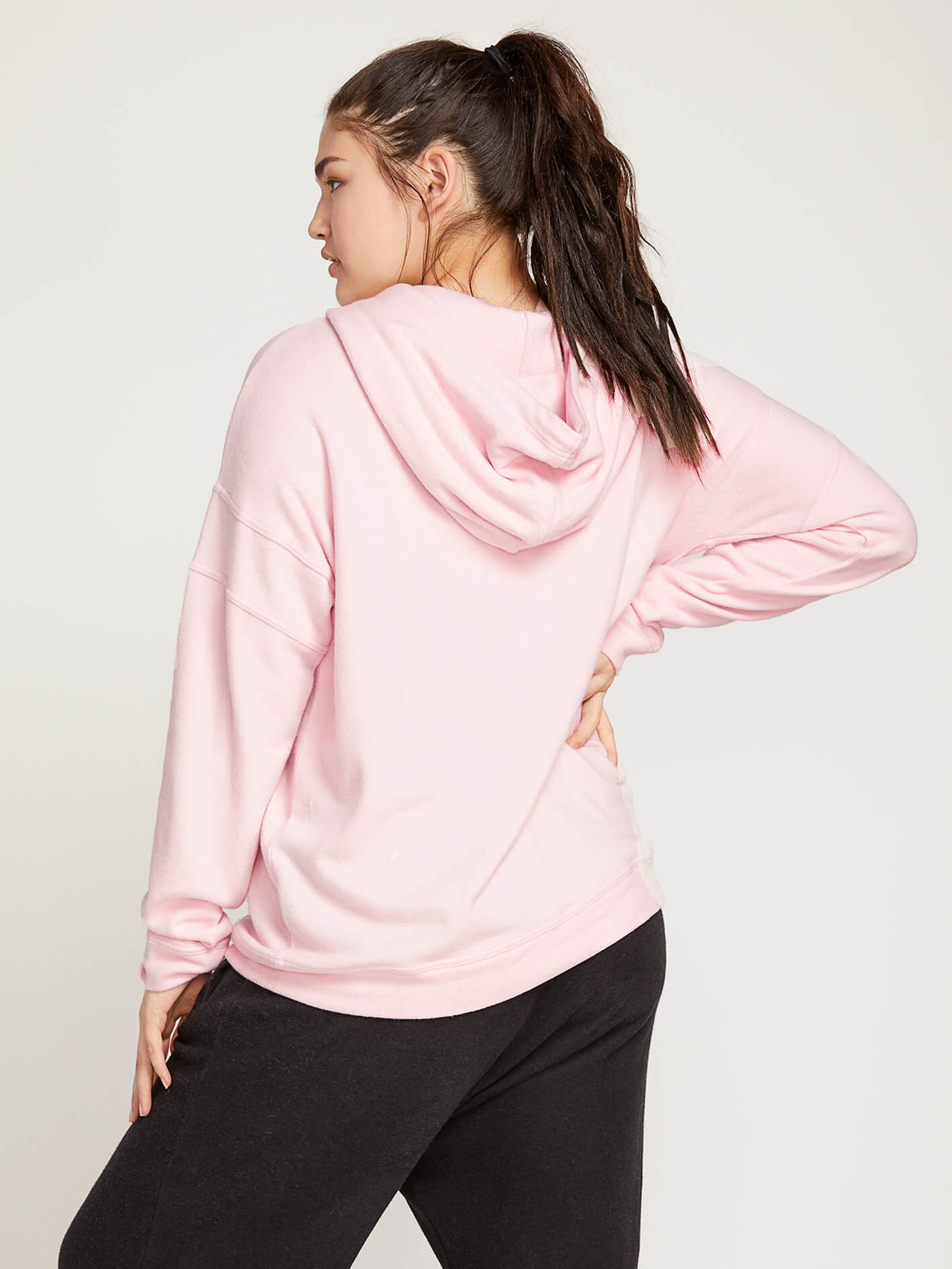 Lived In Lounge Zip Hoodie In Blush Pink, Back Extended Size View