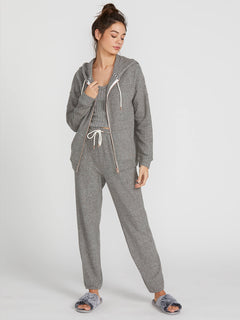 Lived In Lounge Zip Fleece - Charcoal Grey (B3111802_CHR) [1]